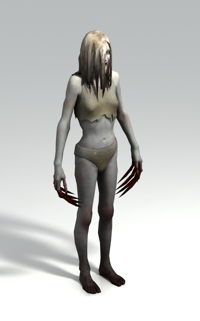 Female infected witch - Left 4 Dead character 3d rendering