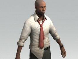 Louis - IT analyst Left 4 Dead character 3d model preview