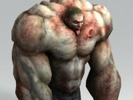 Left 4 Dead character - The Tank 3d model preview