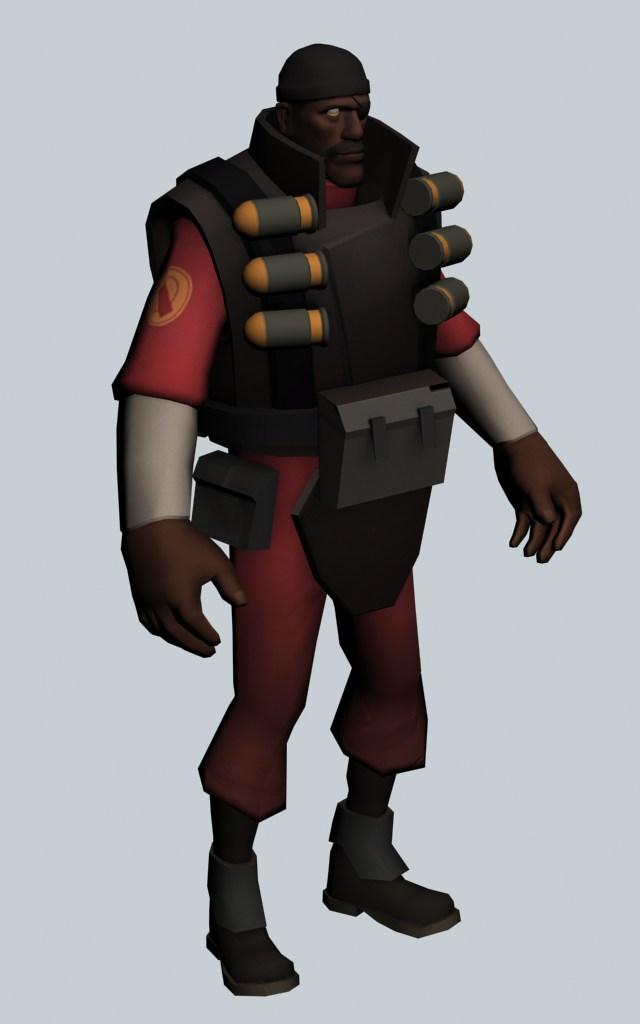 Demoman - Team Fortress character 3d rendering
