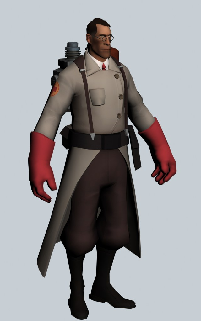 Medic - Team Fortress character 3d rendering
