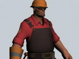 The Engineer - Team Fortress character 3d model preview
