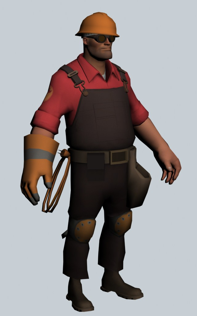 The Engineer - Team Fortress character 3d rendering