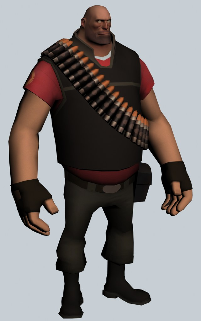 The Heavy - Team Fortress character 3d rendering
