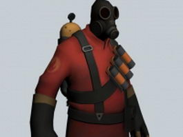 The Pyro - Team Fortress character 3d preview