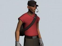 The Scout - Team Fortress character 3d model preview