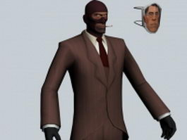The Spy - Team Fortress character 3d preview