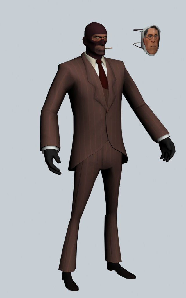 The Spy - Team Fortress character 3d rendering
