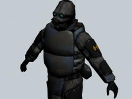 Combine soldier - Half Life character 3d model preview