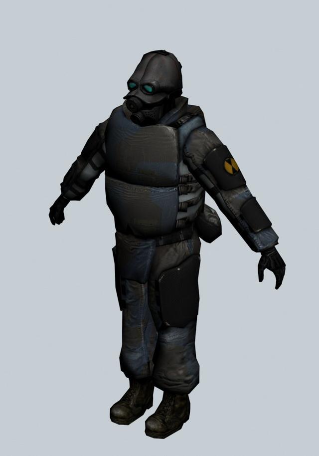 Combine Soldier Half Life Character 3d Model 3ds Max