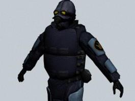 Combine soldier prison guard 3d preview