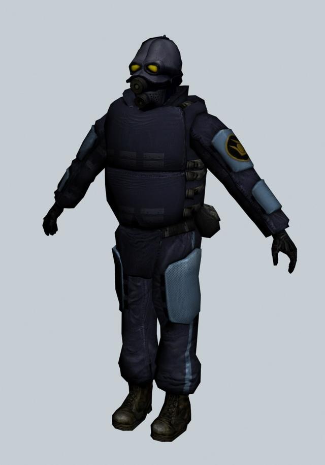Combine Soldier Prison Guard 3d Model 3ds Max Files Free