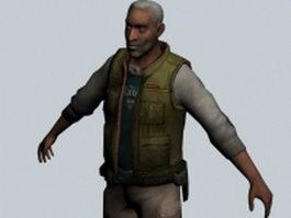 Eli Vance - Half Life character 3d preview