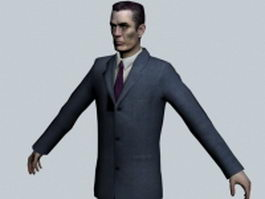 G-Man - Half-Life character 3d preview