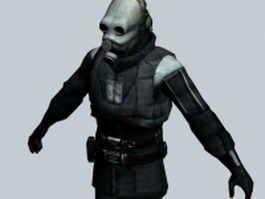 Masked policeman - Half-Life character 3d preview
