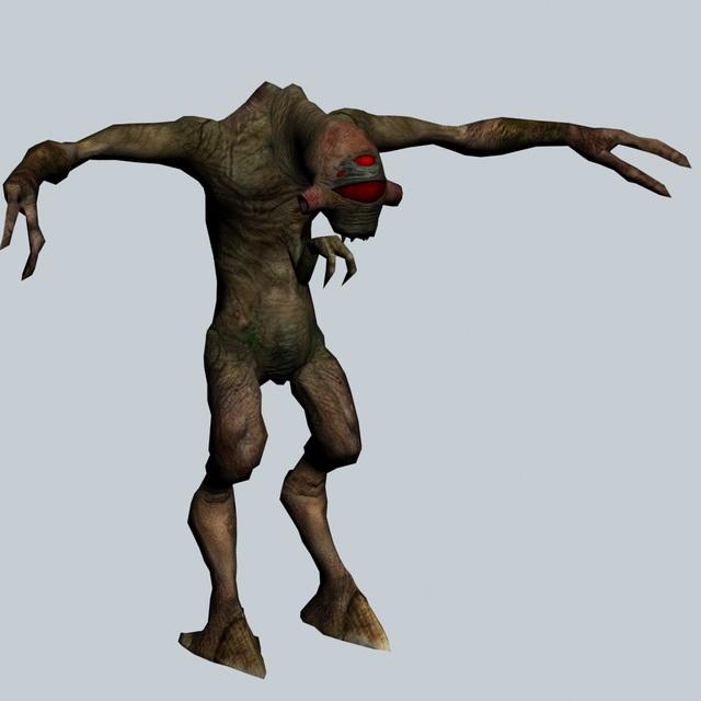 Vortigaunt - Half-Life character 3d rendering