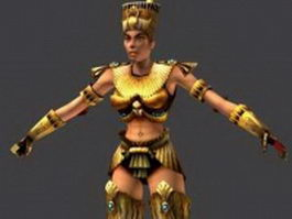 Ancient Egypt female rigged 3d preview