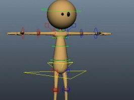 Cartoon people rigged 3d model preview