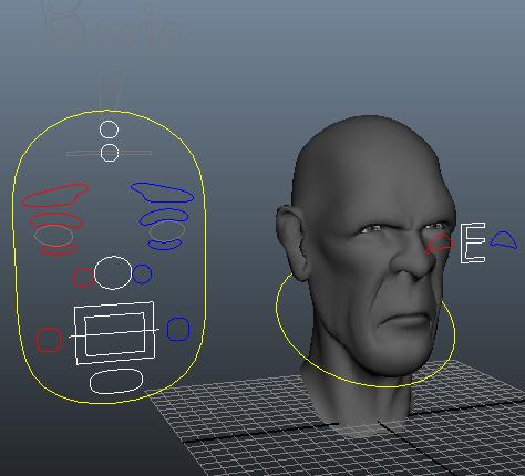 Man Head Face Rig 3d Model Maya Files Free Download