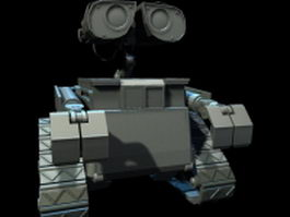 WALL-E title character 3d preview