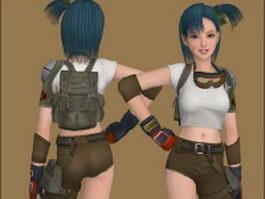 Bulma - Dragon Ball character 3d model preview