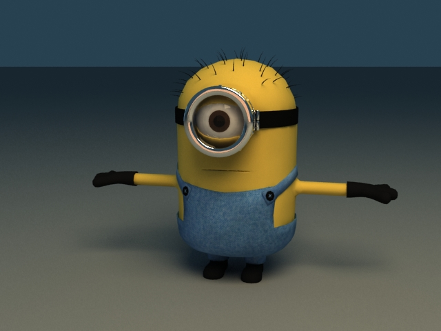 Gru's Minions in Despicable Me - Rigged & Animated 3d rendering