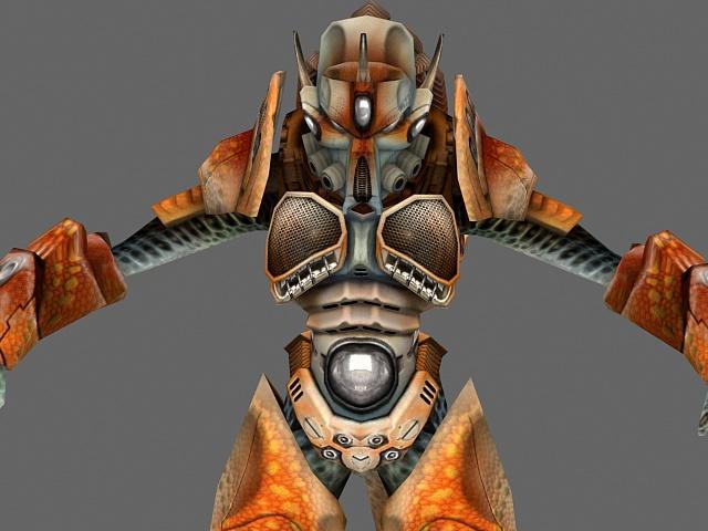 Alien male character 3d rendering