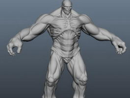 The Hulk 3d model preview