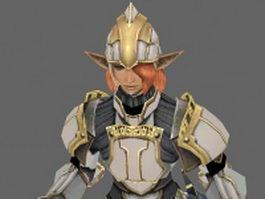 Elf warrior 3d model preview