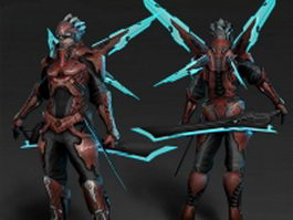 Shadow warrior concept 3d model preview