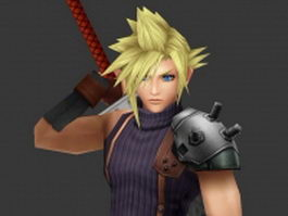 Cloud Strife - Final Fantasy character 3d model preview