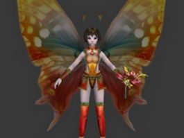 Flower fairy 3d preview