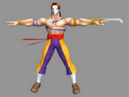 Vega - Street Fighter character 3d preview