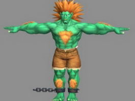 Blanka - Street Fighter character 3d preview