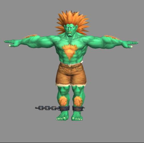 Blanka - Street Fighter character 3d rendering
