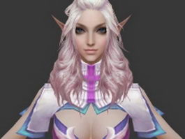 Female sorcerer 3d preview