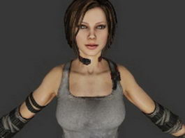 Trishka Novak - Bulletstorm character 3d preview