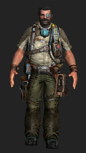 Whit Oliver - Bulletstorm character 3d rendering