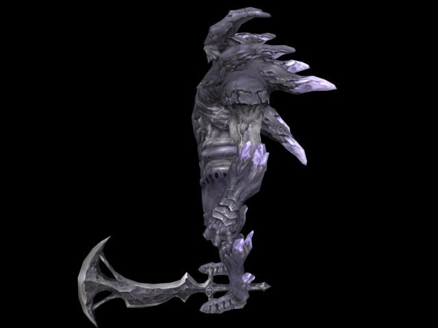 Monster warrior 3d rendering