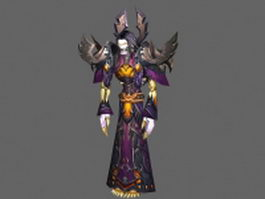 Undead Mage - WoW character 3d preview