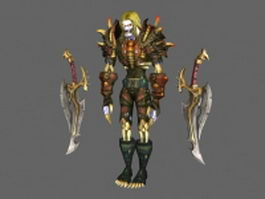 Undead rogue  - WoW character 3d model preview