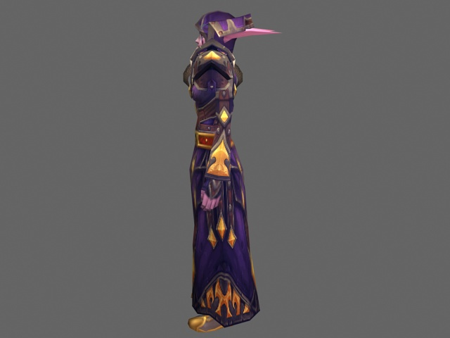 Night Elf female - WoW character 3d rendering
