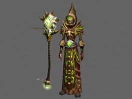 Female warlock - WoW character 3d preview
