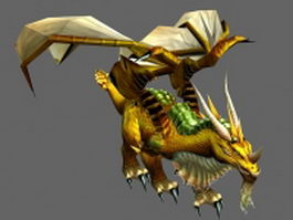 Gold dragon 3d preview
