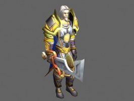 Alexandros Mograine - WoW character 3d model preview