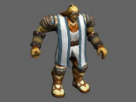 WoW character - the king of human 3d model preview