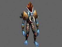 Jungle troll Voljin  - WoW character 3d model preview