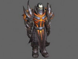 Human warrior - WoW character 3d model preview