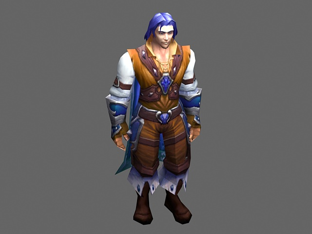 Human prince  - WoW character 3d rendering