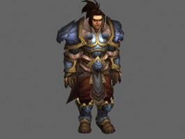 King Varian Wrynn - WoW character 3d model preview